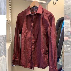 Red men's dress Shirt